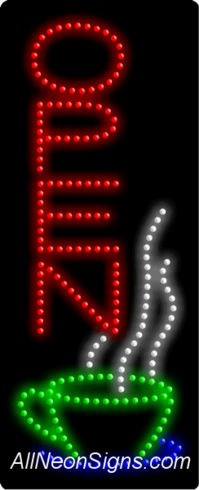 Open (cup,vertical) LED Sign