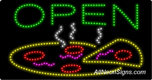 Open, Pizza LED Sign