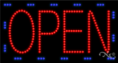 OPEN SIGN -OUTDOOR