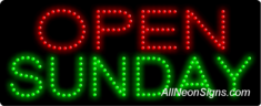 Open Sunday LED Sign