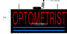 Optometric Neon Sign