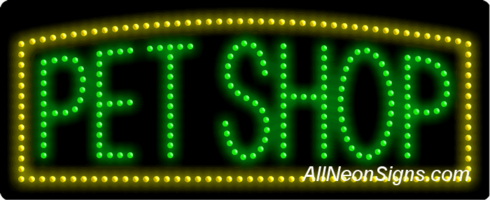 Pet Shop LED Sign