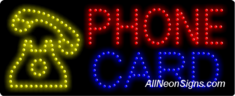 Phone Card LED Sign
