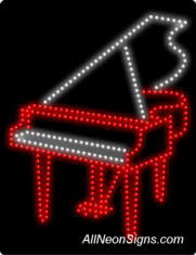 Piano LED Sign