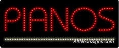 Pianos LED Sign