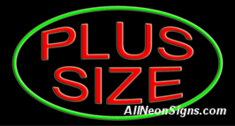 Plus Size Neon Sign