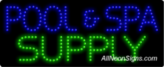 Pool & Spa Supply LED Sign