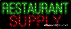 Restaurant Supply LED Sign