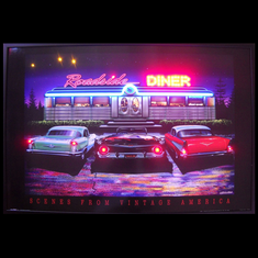 ROADSIDE DINER NEON/LED PICTURE