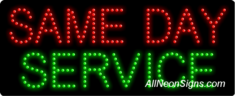 Same Day Service LED Sign