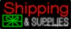 Shipping & Supplies LED Sign