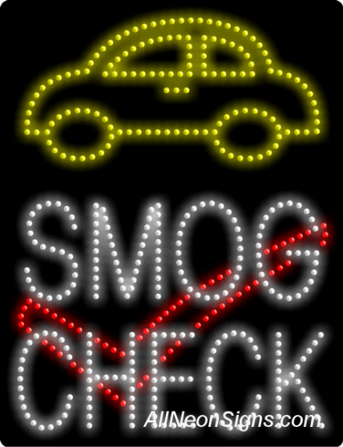 Smog Check LED Sign