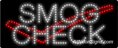 Smog Check, Logo LED Sign