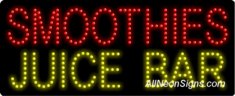 Smoothies Juice Bar LED Sign