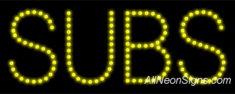 Subs LED Sign
