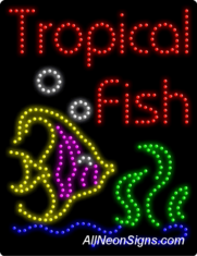 Tropical Fish LED Sign