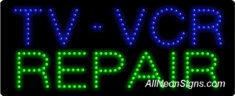 TV, VCR Repair LED Sign