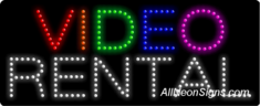 Video Rental LED Sign