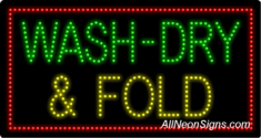 Wash-Dry & Fold LED Sign