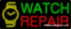 Watch Repair LED Sign