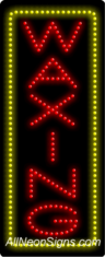 Waxing (vertical) LED Sign