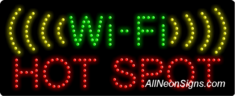 Wi-Fi Hot Spot LED Sign