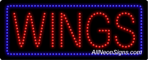 Wings LED Sign