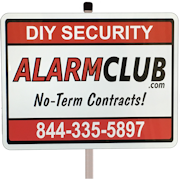 Home Security Yard Sign w/Post - AlarmClub®