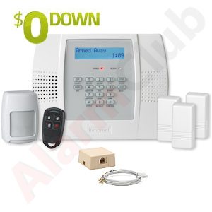 $0-Down Honeywell L3000 Phone Line/VoIP Wireless Alarm System