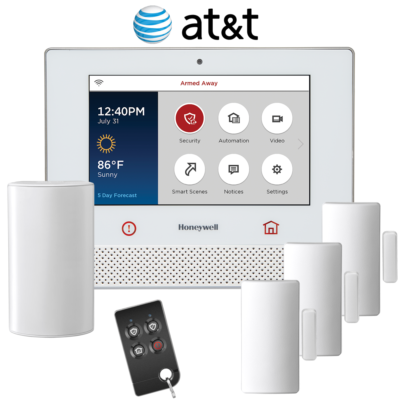 honeywell lyric cellular 3g wireless security system kit via at t network. Black Bedroom Furniture Sets. Home Design Ideas