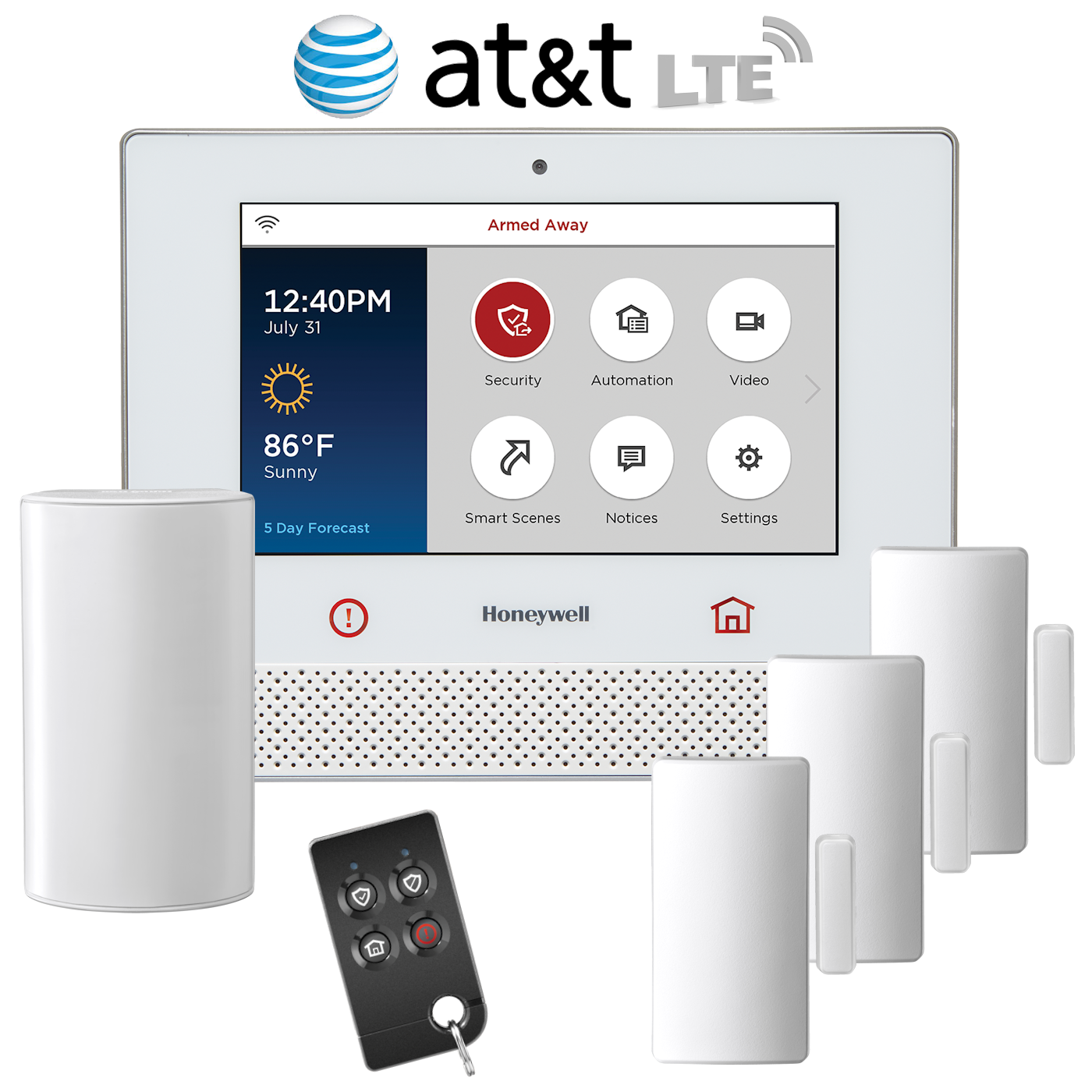 honeywell lyric cellular lte wireless security system kit via at t rh alarmclub com