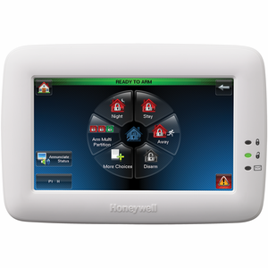 Honeywell TUX Color-Graphic Touchscreen Alarm Keypad