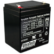 IM-1240 - Ultratech 12V @ 4.5AH Sealed Lead Acid Alarm Battery