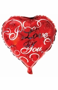 """20.8"""" Mylar Heart Red Roses I Love You Balloon"""