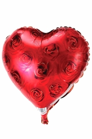 "20"" Mylar Red Roses Heart Balloon - click to enlarge"