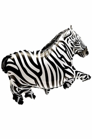 "27.1"" Mylar Zebra Balloon - click to enlarge"
