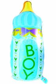 """32.3"""" Mylar It's A Boy Baby Bottle Balloon - click to enlarge"""