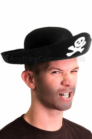 Adult Felt Pirate Hat - click to enlarge