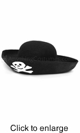 Adult Felt Pirate Hat - Alternate View - click to Enlarge
