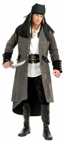 Suede Pirate Coat for Adult Costumes - click to enlarge