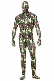 Adult Lycra Bodysuit - Camouflage - click to enlarge