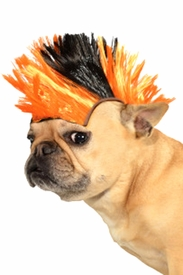 Black and Orange Pet Mohawk Wig - click to enlarge