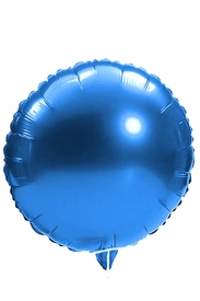 "Blue 18"" Round Mylar Balloon - click to enlarge"