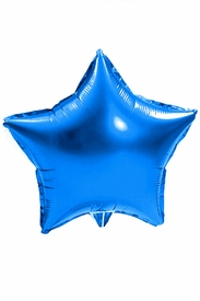 "Blue 18"" Star Mylar Balloon - click to enlarge"