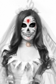 Calavera Woman Mask - click to enlarge