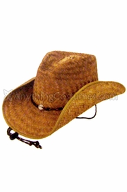 Cocoa Straw Western Cowboy Hat - click to enlarge