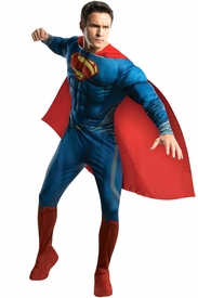Deluxe Superman Man of Steel Superman Muscle Adult Costume - click to enlarge