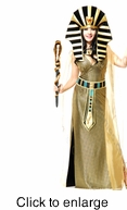 Egyptian Cobra Staff Wand - Gold & Black - Alternate View - click to Enlarge