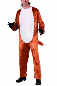 Fox Adult Costume Jumpsuit  - click to enlarge