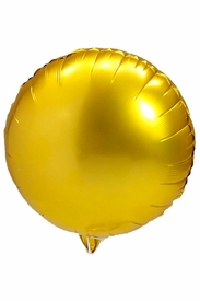 """Gold 18"""" Round Mylar Balloon - click to enlarge"""